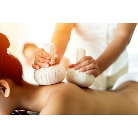 Sianoterapia - masaż ciepłymi stemplami z sianem